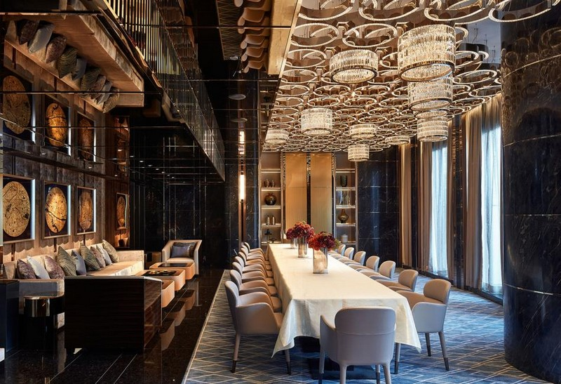 Hirsch Bedner Associates (HBA) completes Ultima Residences - private dining room