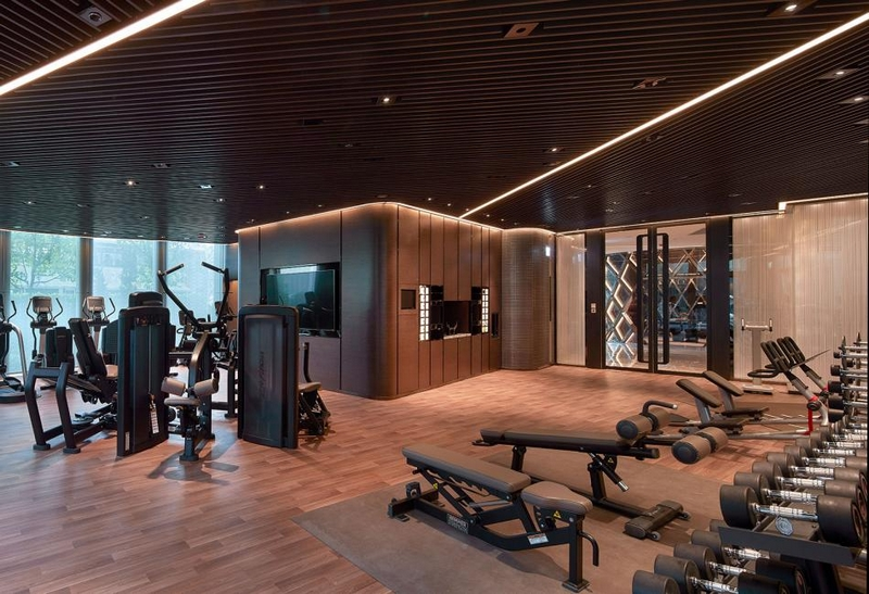 Hirsch Bedner Associates (HBA) completes Ultima Residences - the gym
