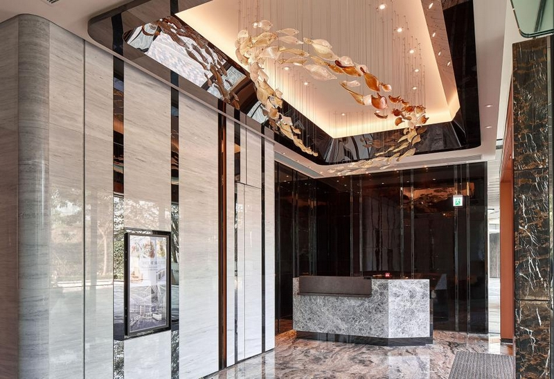 Hirsch Bedner Associates (HBA) completes Ultima Residences - the lobby