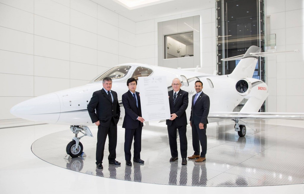 Honda Aircraft Company announced the HondaJet and HondaJetElite have received type certification from India's Directorate General of Civil Aviation DGCA