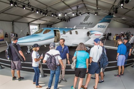 HondaJet Elite, the ultimate time machine, debuted at AirVenture 2018