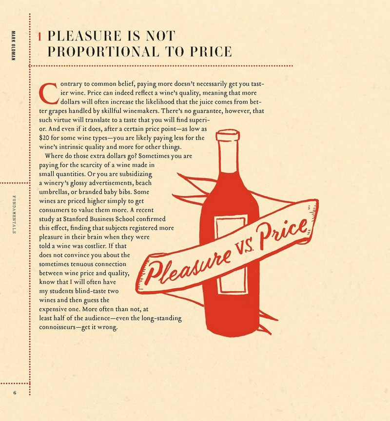How to drink like a millionaire education book - pleasure vs price