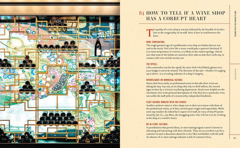 How to drink like a millionaire education book - wine shop