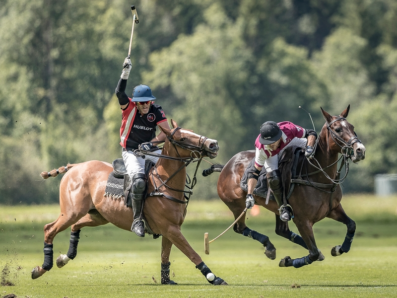 Hublot Polo Gold Cup in Gstaad in action
