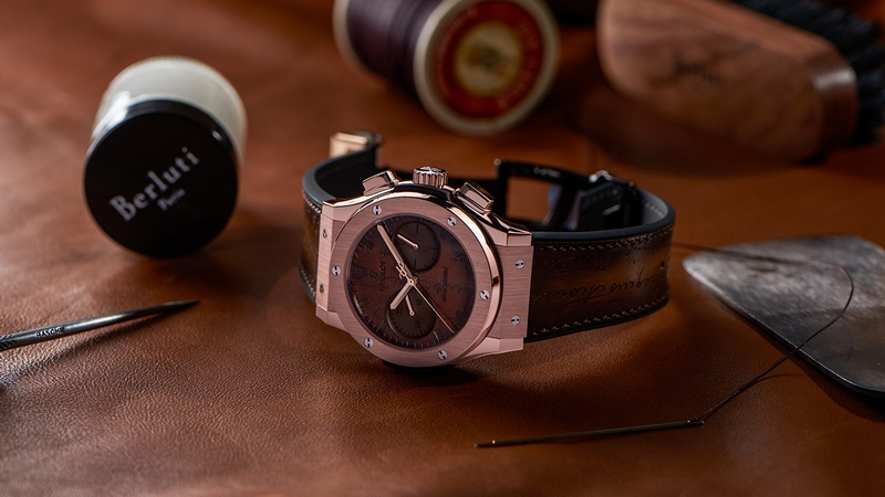 Hublot launches Classic Fusion Chronograph with patina of Berluti leathers-2017