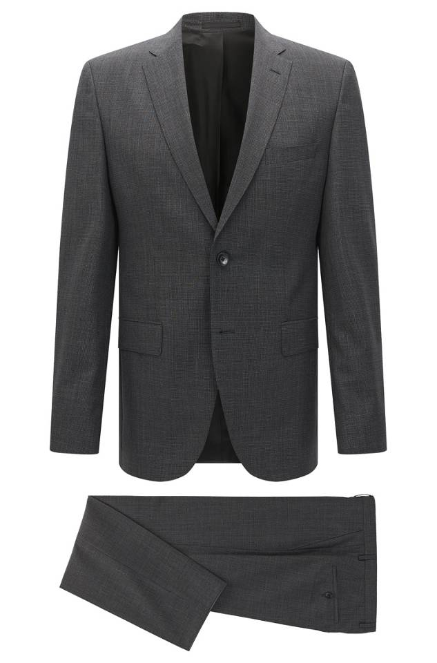 Hugo Boss Regular-fit suit in virgin wool
