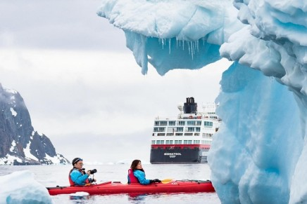 Named in ice – with ice: First hybrid powered expedition cruise ship named in Antarctica