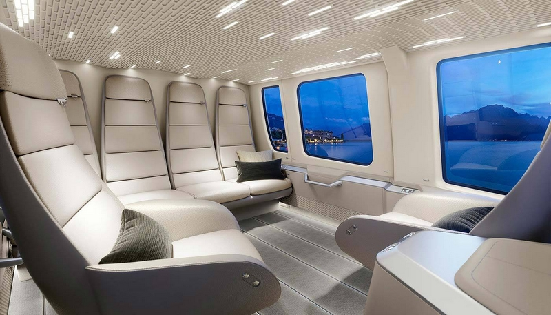 Huslig Collective interior completion of an Airbus H-160 helicopter
