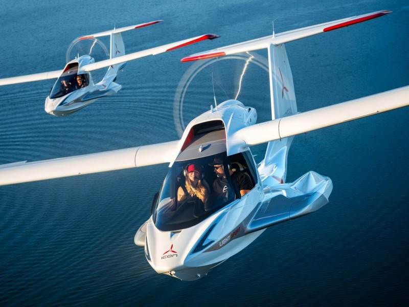 Icon A5 Aircraft in the air