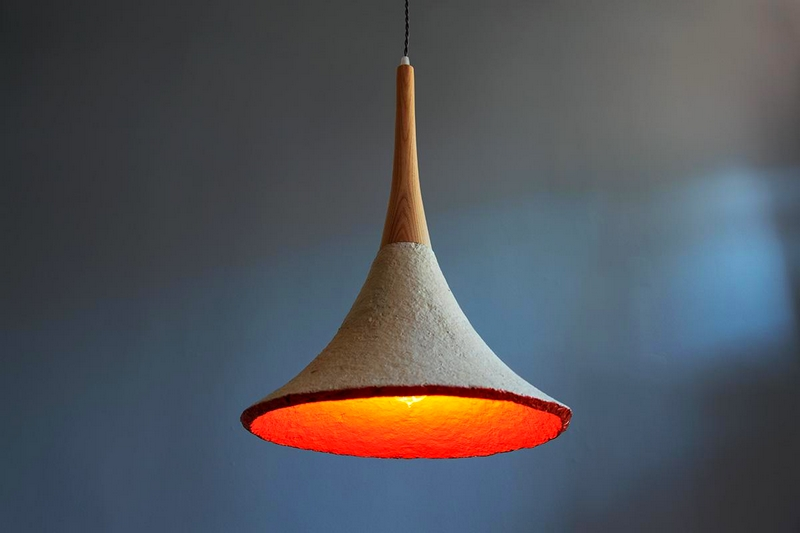 Incorporate a Luxury Setting at Home with Eco-Friendly Lighting-The Mushlume Trumpet Pendant Light