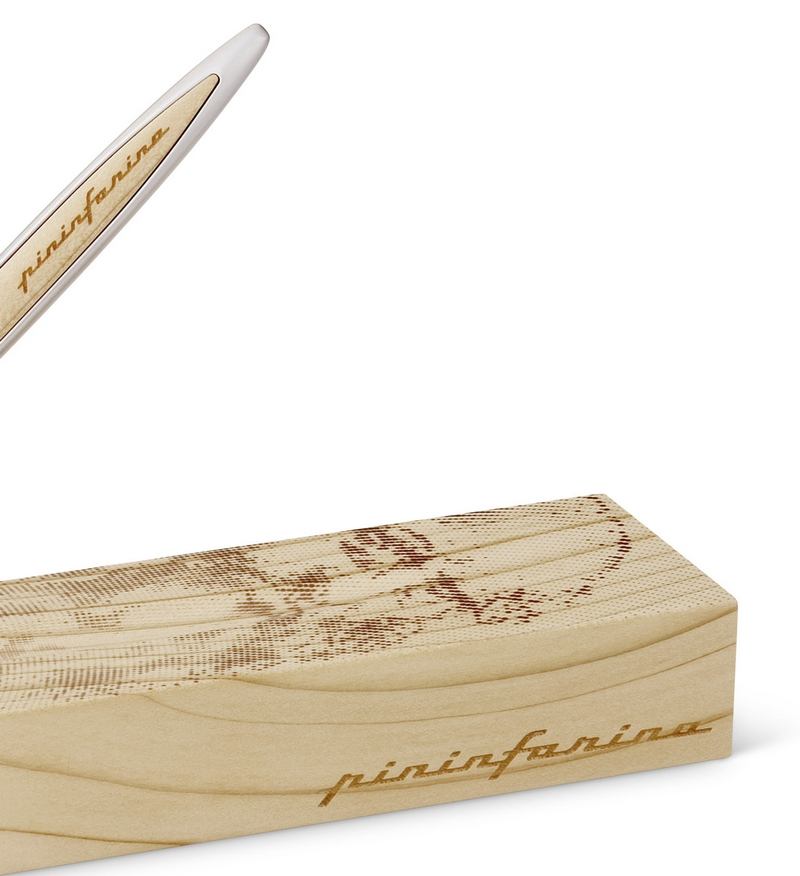 Inkless writing instrument Pininfarina Cambiano Leonardo Drawing, that reconstructs the famous Self-portrait of the Genius-