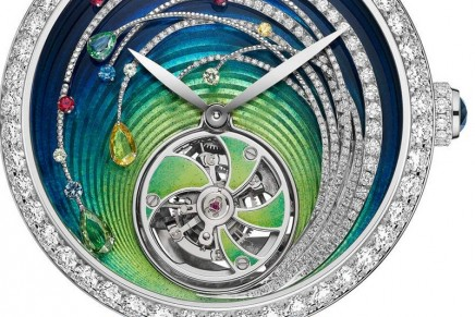 Inspired by the sun's blazing motion: Chaumet Soleil de Minuit Flying Tourbillon
