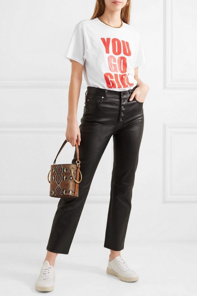 Isabel Marant on net-a-porter - International Women's Day printed cotton-jersey T-shirt