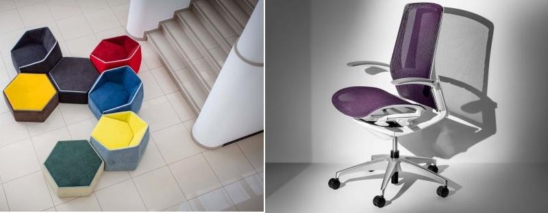 Italdesign Okamura Finora and Italdesign Esasit Concept chairs