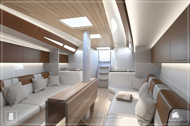 Italia Yachts 12 metre - leather
