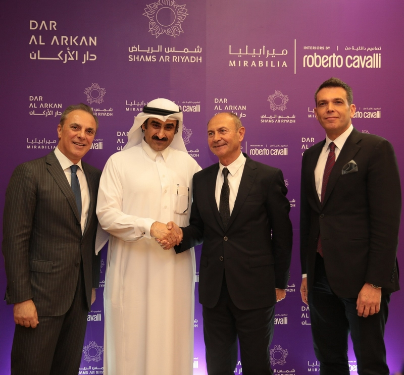 Italian Ambassador in KSA, Dar Al Arkan Chairman, Roberto Cavalli CEO, DAAR CEO