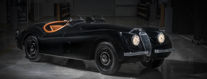 JAGUAR CLASSIC CREATES TAILOR-MADE XK120 FOR MALE MODEL DAVID GANDY