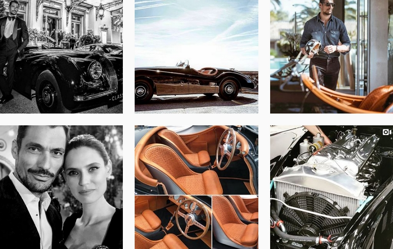 JAGUAR CLASSIC TAILOR-MADE XK120 FOR MALE MODEL DAVID GANDY - insta