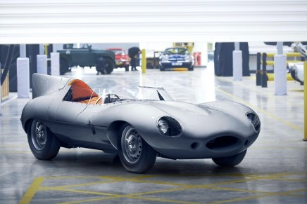 Jaguar has built its first 'new' D-Type classic racing car in more than 60 years.