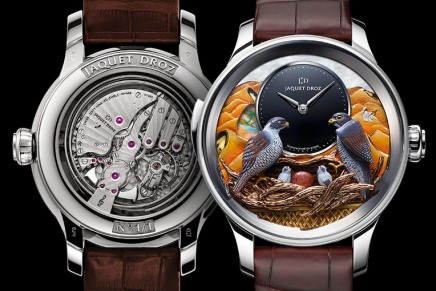 Jaquet Droz Bird Repeater Falcon pays tribute to the millennia-old art of falconry