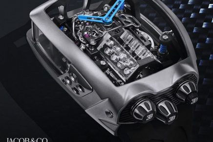 Jacob & Co is Capturing the Famous Bugatti W16 engine in a timepiece