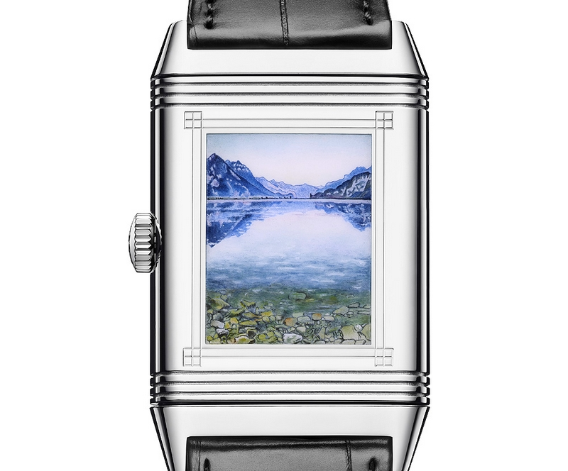 Jaeger-Le Coultre Reverso Tribute 2018 -Lake Thun with Symmetric Reflections Before Sunrise