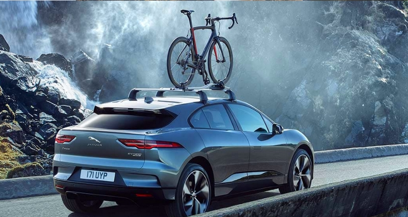 Jaguar I-Pace on the road - all electric performance SUV