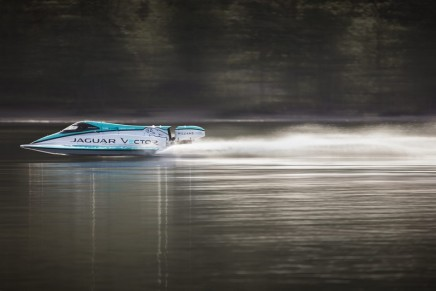 From racecar to electric power boat: Jaguar Vector V20E Break World Electric Speed Record