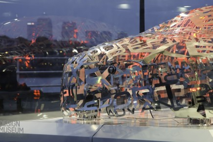 London Design Festival 2014: Jaguar XE word cloud sculpture debuts at London Design Museum