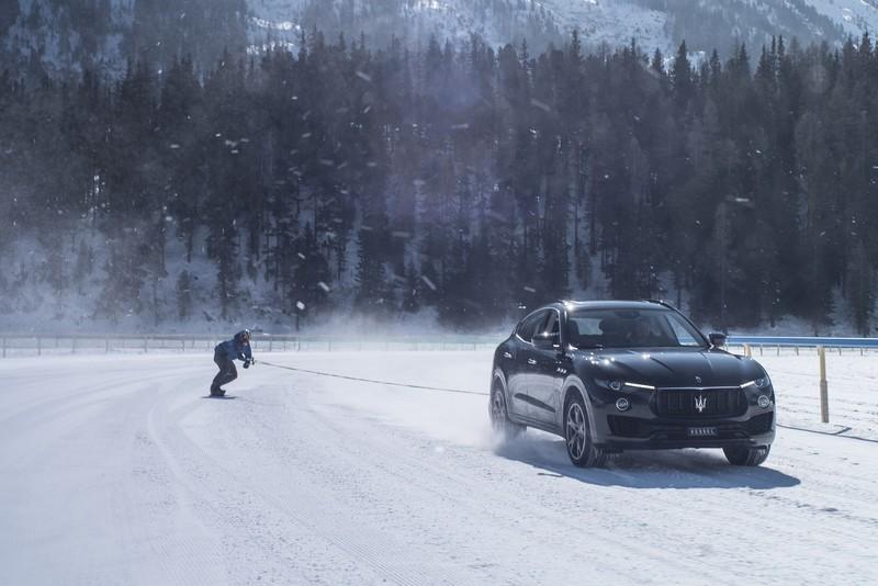 Jamie Barrow and Maserati Levante World Speed Record in St. Moritz-2018