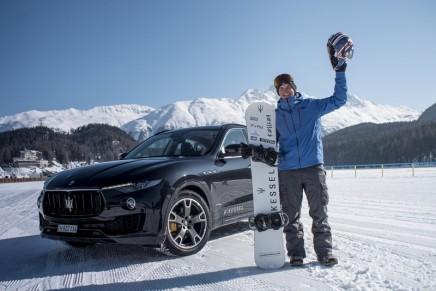 Jamie Barrow and Maserati Levante World Speed Record on the Frozen Lake of St Moritz