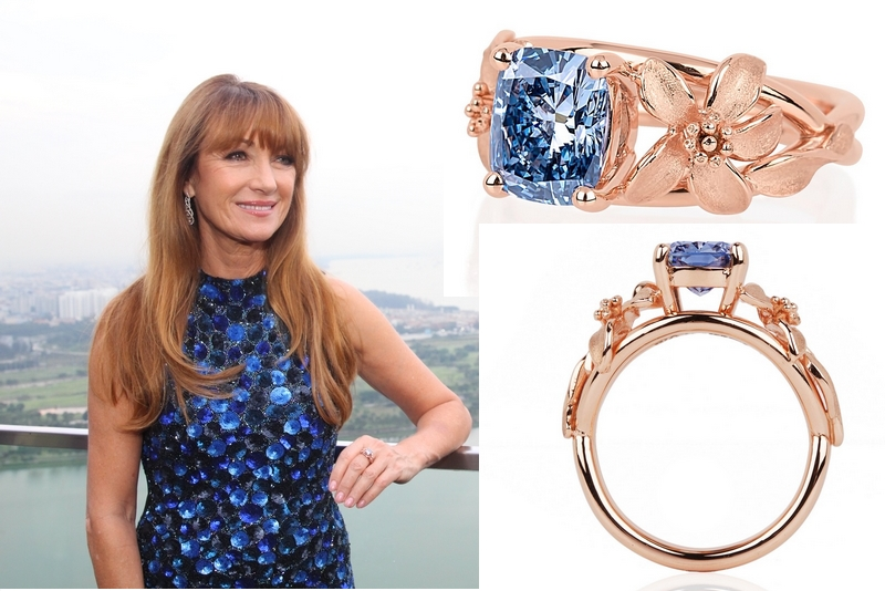 Jane Seymour with The Jane Seymour ring-worldofdiamondsgroup