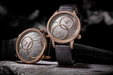 Jaquet Droz celebrates 280 years of watchmaking audacity with dials made of meteorite
