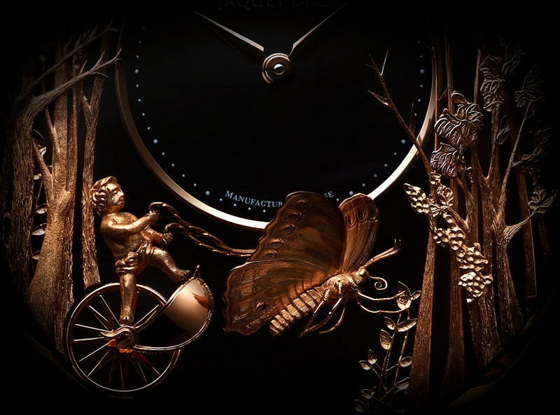 Jaquet Droz - Loving Butterfly Automaton watch 2017 - the finest details of the unique timepiece