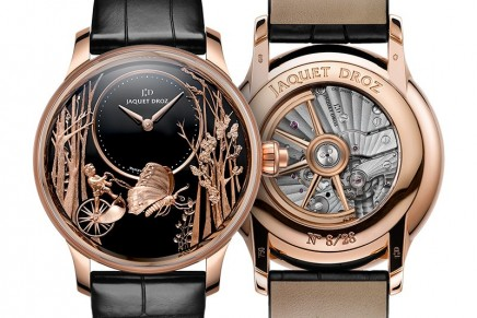 Connoisseurs will succumb to the fluttering wings of the Jaquet Droz Loving Butterfly Automaton