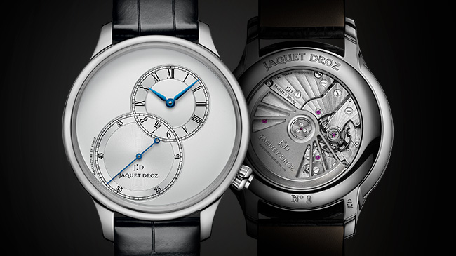 Jaquet Droz is presenting its iconic Grande Seconde Off-Centered model in four versions with a diameter of 39 mm-