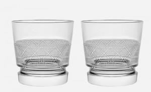 Jardin d'Eden Christofle Pair of Old Fashioned Glasses