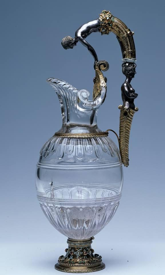 Jarro de cristal con Narciso y una sirena Richard Toutain, 1555