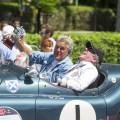 Jay Leno and Ian Callum driving the Jaguar XK 120