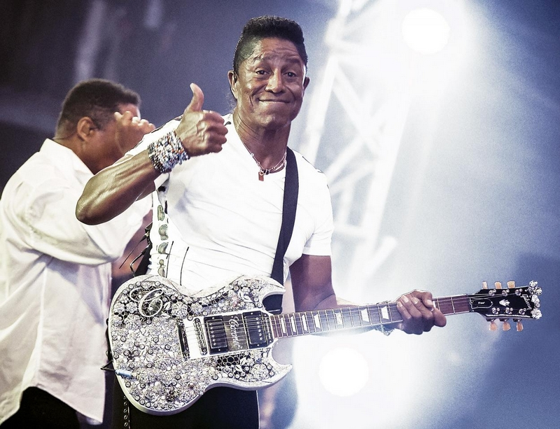 Jermaine Jackson with the World's Most Valuable Guitar