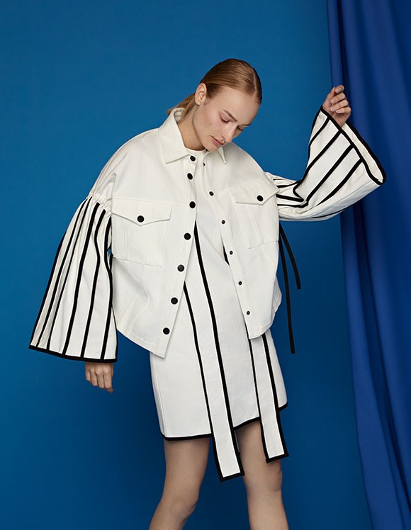 Ji Won Choi X Yoox collection pieces - stripes