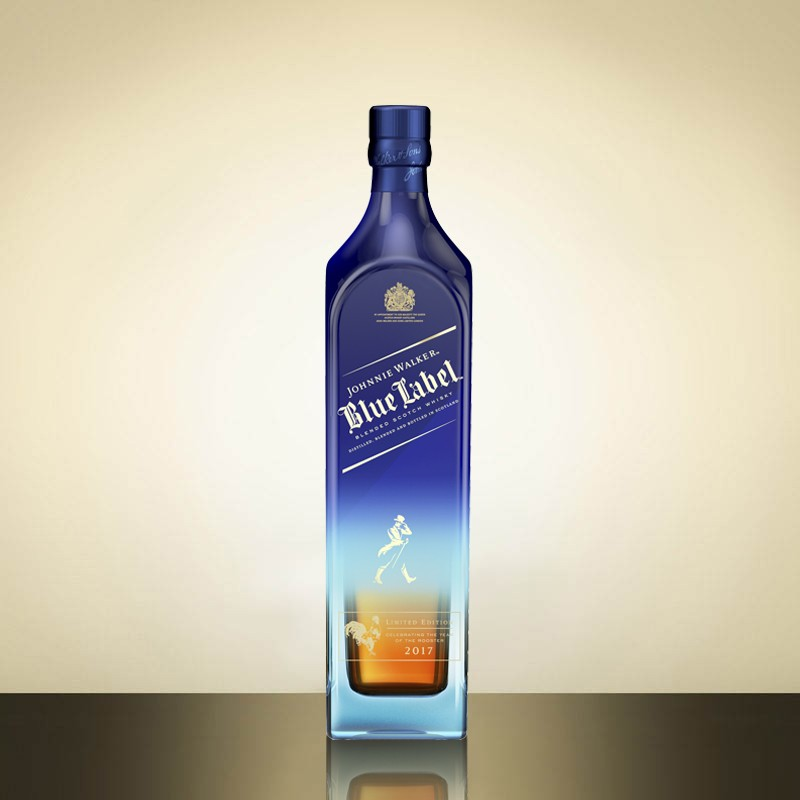 Johnnie Walker Blue Label Year of the Rooster bottle