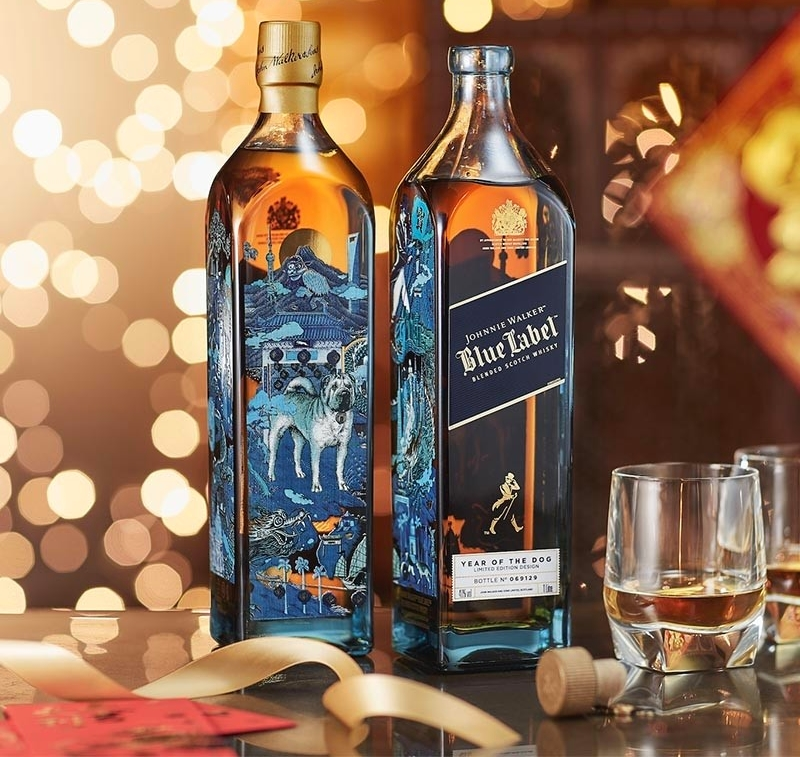 Johnnie Walker has released the Johnnie Walker Blue Label Year of the Dog limited-edition bottle in celebration of the Lunar New Year-2018