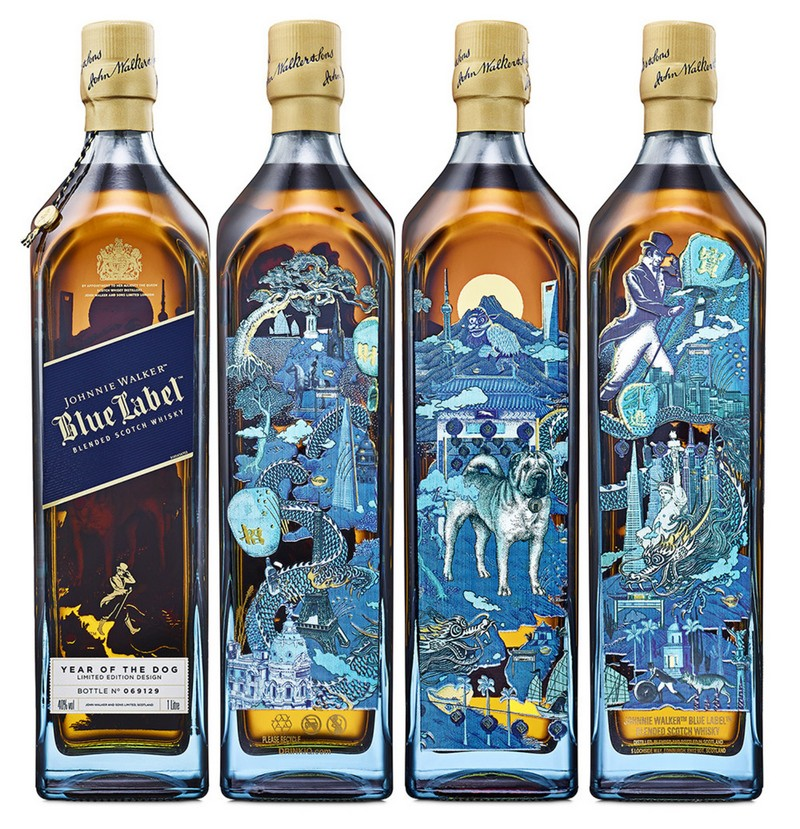 Johnnie Walker has released the Johnnie Walker Blue Label Year of the Dog limited-edition bottle in celebration of the Lunar New Year