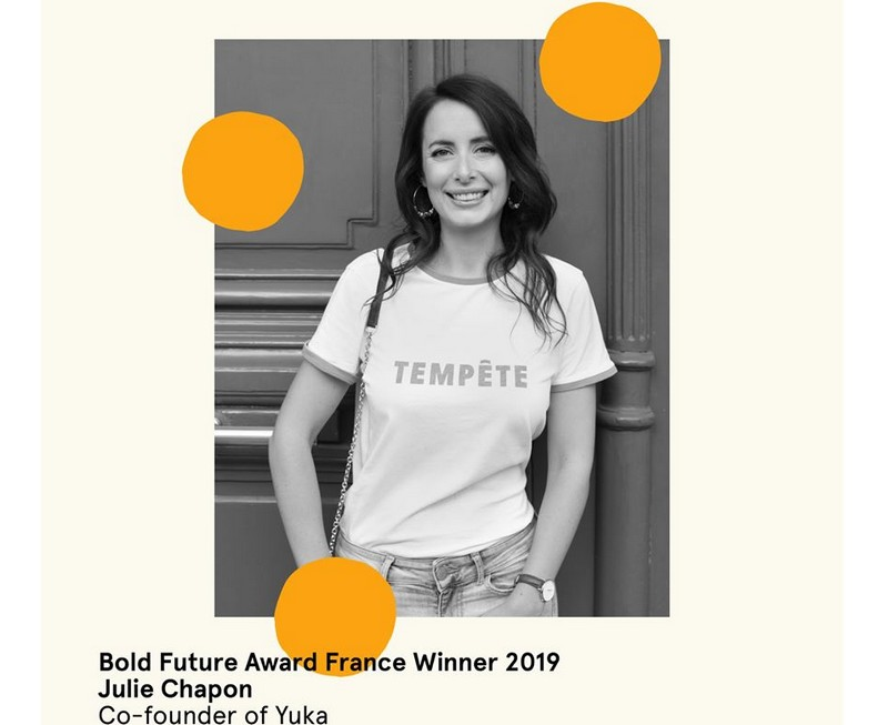 Julie Chapon yukaapp winner of the Bold Future Award France