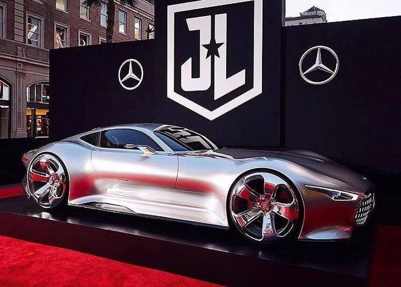 Justice League Super Heroes drive Mercedes-Benz-