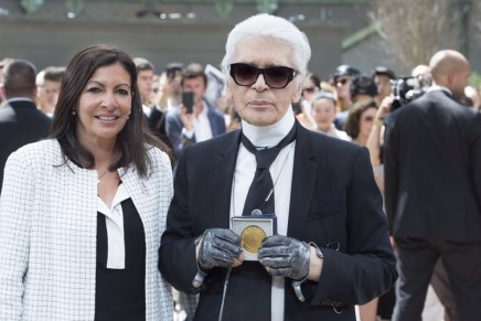 Karl Lagerfeld receives Paris honour at Chanel's greatest hits show