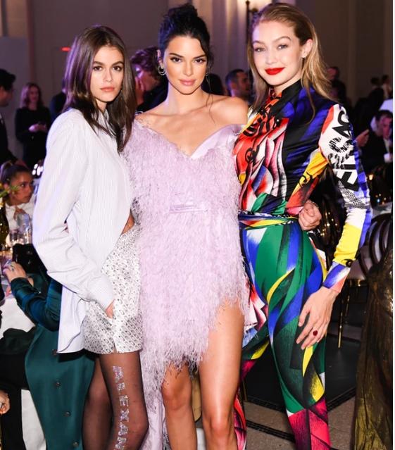 Kaia Gerber, Kendall Jenner, and Gigi Hadid