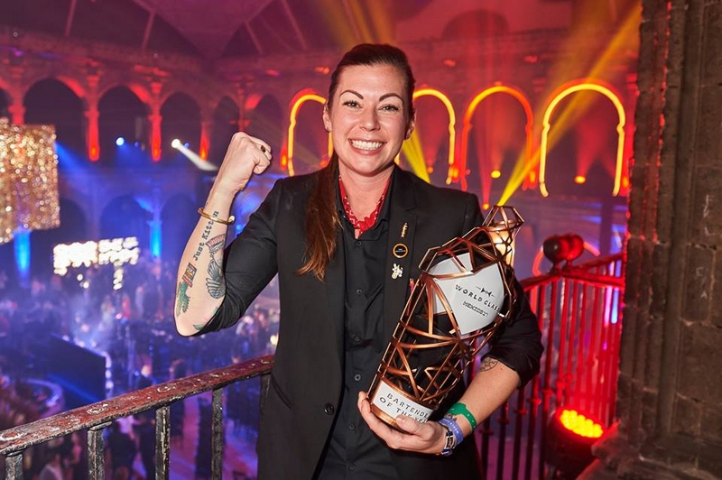 Kaitlyn Stewart from Canada, crowned 2017's World Class Bartender of the Year!