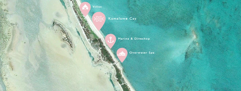 Kamalame Cay from air